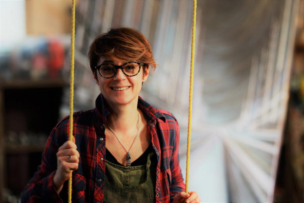 contact portrait Leslie balansoire atelier galeri facebook